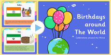 Birthdays Around the World Presentation