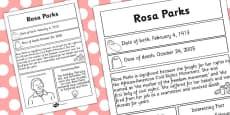 Rosa Parks Significant Individual Fact Sheet