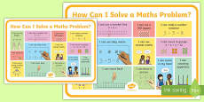 Solving Maths Problems Strategy A3 Poster