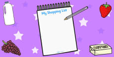 Supermarket Shopping Lists