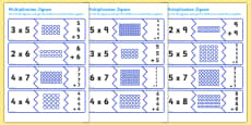 Australia - Multiplication Matching Puzzle Game