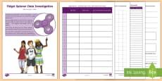 Fidget Spinner Data Investigation Activity Booklet