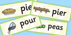 Initial p Sound Word Cards