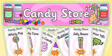 Candy Store Role Play Pack