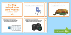 KS2 One Step Multiplication Word Problems Maths Challenge Cards