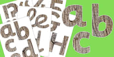 Wood Texture Display Letters and Numbers Pack
