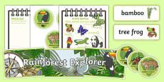 Rainforest Explorer Role Play Pack