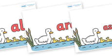 Tricky Words on Five Little Ducks