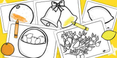 Oranges and Lemons Colouring Sheets
