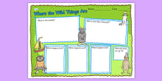 Book Review Writing Frame to Support Teaching on Where the Wild Things Are