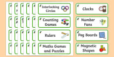 Kingfisher Themed Editable Maths Area Resource Labels