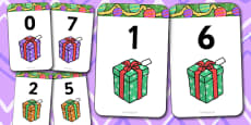 Number Bonds to 7 Matching Cards (Presents)