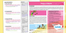 Science: States of Matter Year 4 Planning Overview