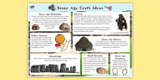 Stone Age Craft Ideas