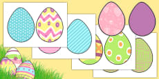 Cut-out Patterned Easter Eggs