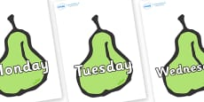 Days of the Week on Pears