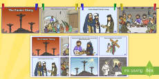 Easter Story Sequencing Shortened 8 Cards