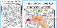 Australia - I Spy With My Little Eye Colouring Activity Sheet