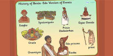 History of Benin, Edo Version of Events Story Word Mat