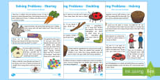 EYFS Maths: Solving Problems - Doubling, Halving and Sharing Home Learning Challenges  Activity Pack
