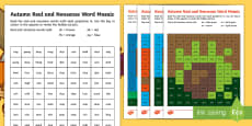 * NEW * Autumn Phase 3  Phonics Mosaic Activity Sheets