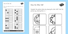 Australia - Draw the Other Half Activity Sheet