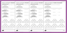 KS3_KS4 Maths Student Led Practice Sheets Positive and Negative Number Calculations