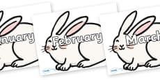 Months of the Year on Chinese New Year Rabbit