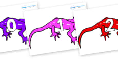 Numbers 0-31 on Geckos