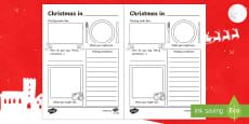 Comparing Christmas Around the World Writing Frames