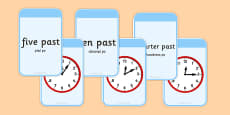 Telling The Time Matching Flashcards Polish Translation
