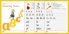 New Zealand Handwriting Activity Sheets