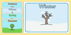 Editable Class Group Signs (Four Seasons)