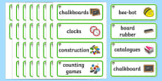 Rowan Tree Themed Editable Additional Classroom Resource Labels