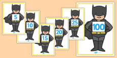 Counting in Fives on Bat Superhero