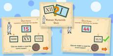 Roman Numerals Quiz PowerPoint