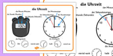 German Time Word Mat