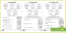 An Geimhreadh 1st and 2nd Class Differentiated Reading Comprehension Activity Gaeilge