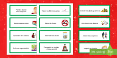New Year's Resolutions Word Cards Spanish / Español