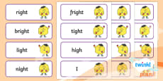 PlanIt English Additional Resources Year 1 Term 2A Spelling Word Cards
