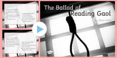 The Ballad of Reading Gaol by Oscar Wilde Poem PowerPoint