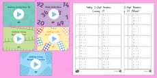 Adding Two Digit Numbers and Ones Crossing 10 Activity Pack