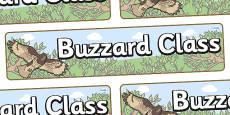 Buzzard Themed Classroom Display Banner