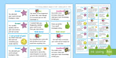 * NEW * NI Thinking Skills and Personal Capabilities Self Management Marking Stickers