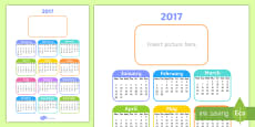 Editable 2017 Calendar