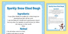Sparkly Snow Cloud Dough Recipe