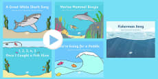 Under the Sea Songs and Rhymes PowerPoints Pack