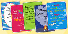 Classroom Learning Inspirational Quote Posters