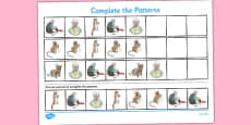 The Tailor of Gloucester Complete the Pattern Activity Sheets (Beatrix Potter)