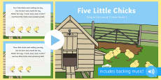 Five Little Chicks Song PowerPoint